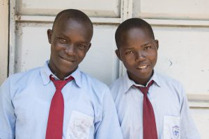 Two I-KODI Scholarship students, Remgius Okoth and Vitalis Odima attend Thurdibuoro High School.