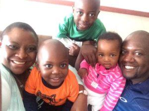 Lucy Rudo Mukura, I-KODI USA/Kenya Board member with her family.