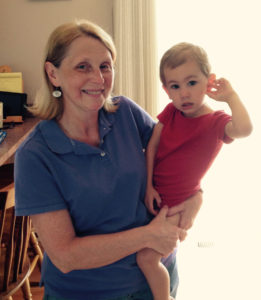 Mary Durand, Chief Administrative Officer for I-KODI USA and her grandson Connor