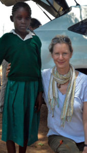 Ruth Connor, I-KODI USA Board Member with Ivet Amondi at the Konditi Primary School